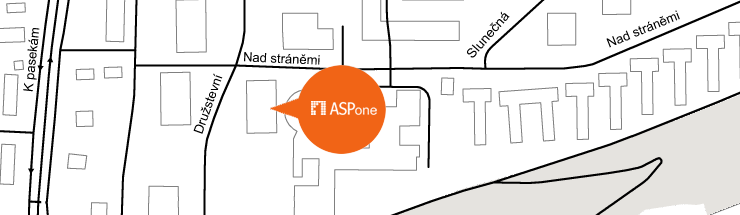 Mapa sídla ASPone, s.r.o.